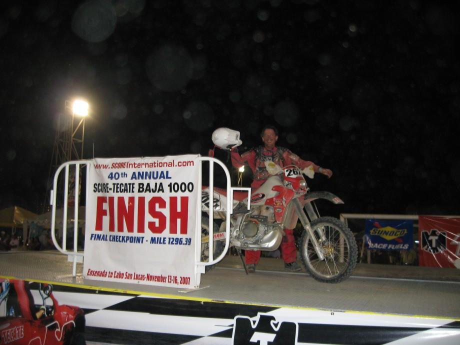 Dennis Rogers Baja 1000 Finish