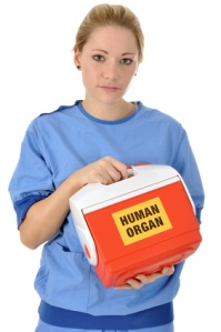 OP-rztin mit Organspende